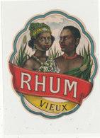 986  / ETIQUETTE  DE RHUM- VIEUX - Rhum