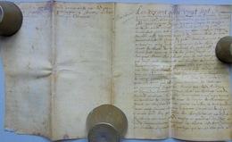 Besançon, Acte Sur Parchemin, 1687 - Documents Historiques