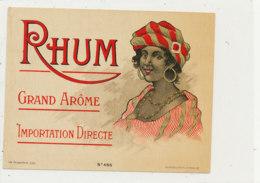 990  / ETIQUETTE  DE RHUM- GRAND AROME  IMPORTATION DIRECTE - Rhum