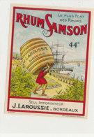 992  / ETIQUETTE  DE RHUM- SAMSON  J. LAROUSSIE  BORDEAUX - Rhum