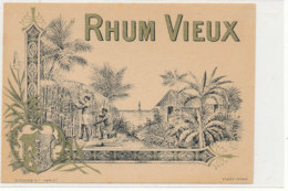 1002  / ETIQUETTE  DE RHUM    VIEUX - Rhum