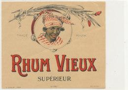 1003  / ETIQUETTE  DE RHUM    VIEUX  SUPERIEUR - Rhum