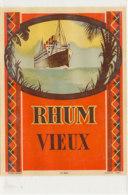 1005  / ETIQUETTE  DE RHUM   VIEUX - Rhum