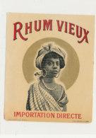 1007  / ETIQUETTE  DE RHUM   VIEUX  IMPORTATION DIRECTE - Rhum