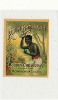 1011  / ETIQUETTE  DE RHUM   BAMMBOULA  BOUDEY- CHOLOUS  MONTBOYER   CHARENTE - Rhum