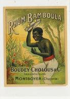 1012  / ETIQUETTE  DE RHUM   BAMMBOULA  BOUDEY- CHOLOUS  MONTBOYER   CHARENTE - Rhum