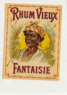 1013  / ETIQUETTE  DE RHUM   VIEUX  FANTAISIE - Rhum