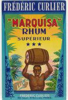 1016  / ETIQUETTE  DE RHUM      MARQUISA   FREDERIC CURLIER  PARIS - Rhum