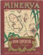 1017  / ETIQUETTE  DE RHUM   SUPERIEUR MINERVA   BRESON  BEAUCAIRE  BEZIERS - Rhum