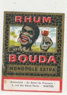 1022  / ETIQUETTE  DE RHUM  BOUDA   MONOPOLE EXTRA   NANTES - Rhum