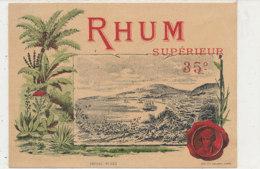 1024  / ETIQUETTE  DE RHUM   SUPERIEUR  35 ° - Rhum