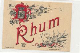 1026  / ETIQUETTE  DE RHUM    VIEUX  30 ° - Rhum