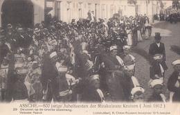 Asse Assche 600 Jarige Jubelfeesten Der Mirakuleuze Kruisen 1912 Nr 29 De Stoet Op De Groote Steenweg - Asse
