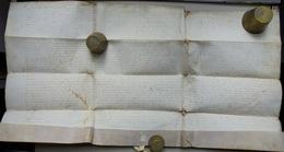 Besançon Acte Sur Parchemin 17e - Documentos Históricos