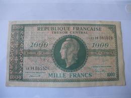 1000F MARIANNE TYPE 1945 LETTRE H FAUX? - Trésor