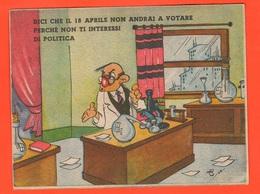 Politica Propaganda Elezioni Italia 1948 Democrazia Cristiana Vs Fronte Democratico - Cartoline