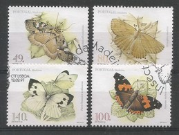 Portugal / Madeira  1997  Mi.Nr. 187 / 190 A , Schmetterlinge - Gestempelt / Used / (o) - Used Stamps