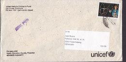Nepal UNICEF United Nations Children's Fund 2006 Cover, Letter & Postcard FREDERIKSBERG Denmark Jewelry Schmuck - Nepal