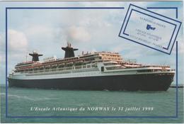 LE NORWAY AU PORT DE LA ROCHELLE - PALLICE LE 31 JUILLET 1998 - La Rochelle
