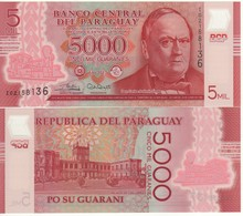 PARAGUAY Newly Issued 5'000 Guaranis  Pnew     Dated  2017  POLIMER   UNC - Paraguay