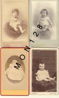 4 PHOTOS CDV BEBES - Foto