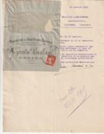 *** 38 *** RENAGE ISERE  Enveloppe Illustrée Publicitaire + Courrier Entête Manufacture De Faulx TTB - Agriculture