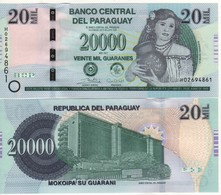 PARAGUAY Newly Issued 20'000 Guaranis  Pnew     Dated  2017    UNC - Paraguay