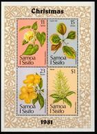 SAMOA - BLOC N°26 **  (1981) Noël : Fleurs - Samoa