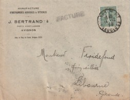 ***  84  *** AVIGNON  Agriculture Viticulture J BERTRAND - Enveloppe Illustrée - Agriculture