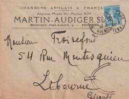 *** 86  *** POITIERS  Chjarbons Anglais MARTIN AUDIGER  Enveloppe Illustrée - Agriculture