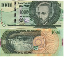 PARAGUAY Newly Issued 100'000 Guaranis  Pnew     Dated  2017    UNC - Paraguay