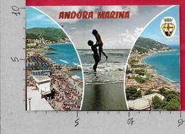 CARTOLINA VG ITALIA - ANDORA MARINA (IM) - Scorci Panoramici Pin Up - Vedutine Multivue - 10 X 15 - ANN. 197? - Imperia