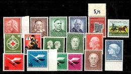 Allemagne/RFA Petite Collection Neufs ** MNH 1953/1955. Bonnes Valeurs. TB. A Saisir! - Neufs