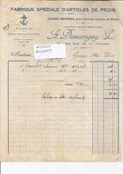 71 MACON - A. DEMARIGNY Fabrique D'Articles De PËCHE - Facture De 1924 - 1060119 - France