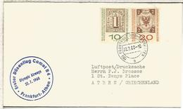 ALEMANIA 1960 CC PRIMER VUELO FRANKFURT ATHEN OLYMPIC AIRWAYS COMET 4B - BRD