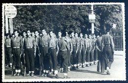 Cpa Carte Photo Dos Blanc Du 34 Montpellier En 1947 Section Militaire Place De La Gare  YN56 - Montpellier