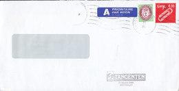 Norway TANGENTEN Bergen A PRIORITAIRE Par Avion Label LANDÅS 1991 Cover Brief Paper Clips & Posthorn Stamps - Norwegen