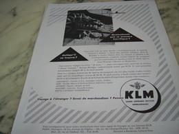 ANCIENNE PUBLICITE QUETZALCOATL QUE CE MONSTRE HORRIFIQUE  KLM 1953 - Publicités