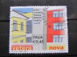 *ITALIA* USATI 2006 - 23^ SCUOLE D'ITALIA CAIROLI VARESE - SASSONE 2867 - LUSSO/FIOR DI STAMPA - 6. 1946-.. Repubblica