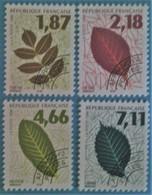 France 1996 : Feuilles D'arbres N° 236 à 239 Oblitéré - Préoblitérés