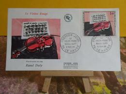 Le Violon Rouge De Raoul Dufy - 76 Le Havre - 6.11.1965 FDC 1er Jour - Coté 4€ - 1960-1969
