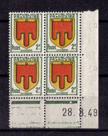 COIN DATE N° 837 ( 28.3.49) NEUF** - Ecken (Datum)
