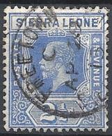Sierra Leone, 1921 King George V, 2½p Blue, Wmk. Multi Script CA # S.G. 135 - Michel 104 - Scott 126  USED - Sierra Leone (...-1960)