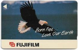 Singapore - Eagle, Privates Fuji Film, 9SFUA, 55.000ex, Used - Singapour