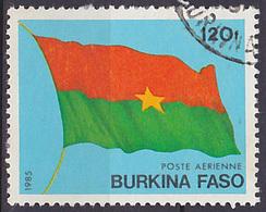 Timbre PA Oblitéré N° 278(Yvert) Burkina Faso 1985 - Drapeau - Burkina Faso (1984-...)
