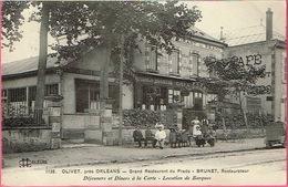 45 - OLIVET, Près D'ORLÉANS - Grand Restaurant Du Prado - BRUNET, Restaurateur . L.L. Orléans N° 1738 - Restaurants