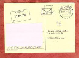 Karte, Unfrankiert, Mit Nachporto Belegt, Eisenhuettenstadt Ueber Briefzentrum 12 Nach Muenchen 2010 (69142) - Covers & Documents