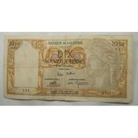 Billet 10 NF Banque De L' Algérie 25-11-1960 - Algeria