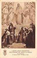 Cartolina Ordine Dei Servi Di Maria I Sette Santi Fondatori 1941 - Cartoline