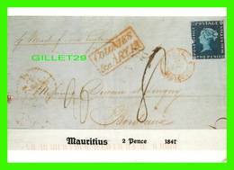 ILE MAURICE - MAURITIUS 2 PENCE, 1847 -  DEUTSCHES POSTMUSEUM IN 1991 - TRAVEL - Maurice